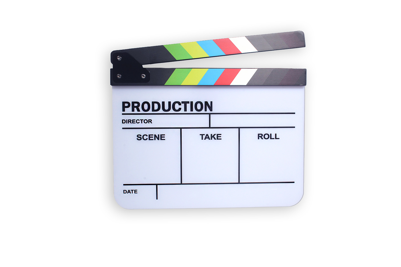 COLORFUL CLAPPERBOARD