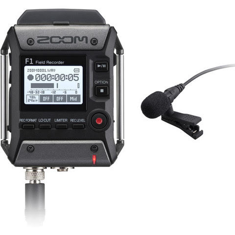 Zoom F1 (F1-LP) Field Recorder and Lavalier Microphone
